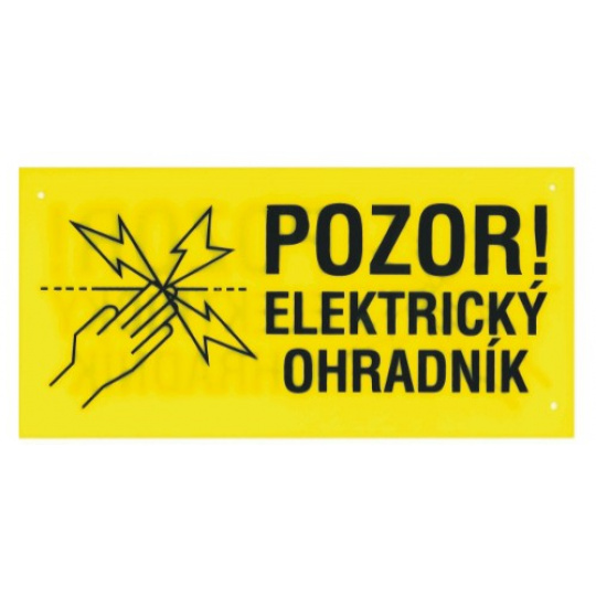 cedulka výstražná Elektrický ohradník